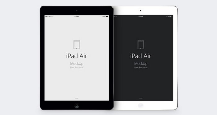 iPad Air Psd Vector Screen Mockup PSD
