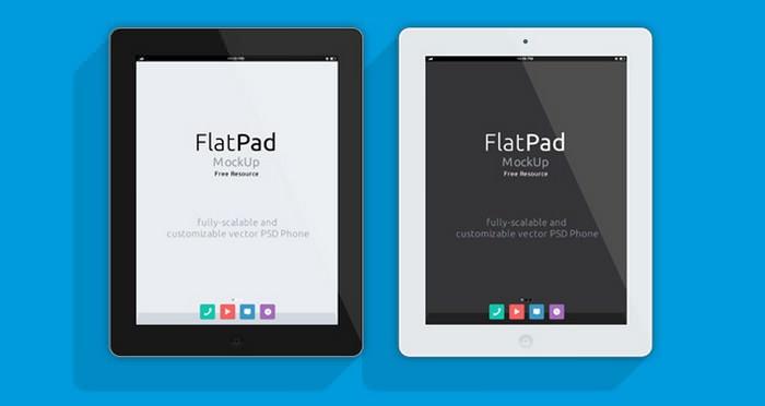 iPad Psd Flat Mockup PSD