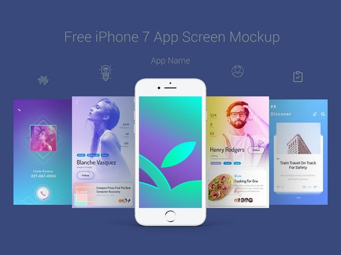 iPhone 7 App Screen Mockup