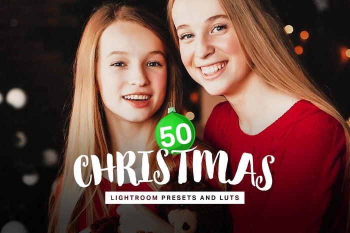 50 Christmas Lightroom Presets