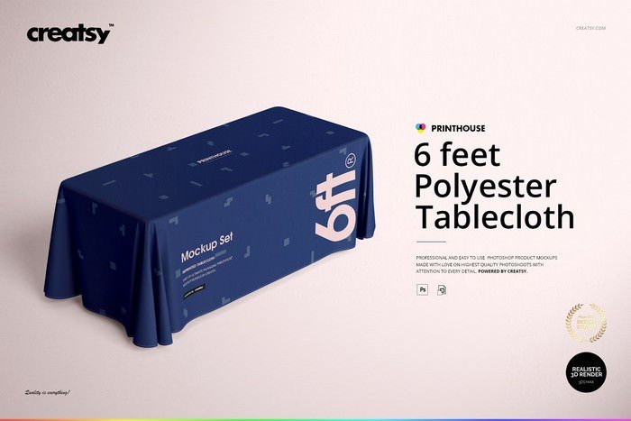 Polyester Tablecloth Mockup Set