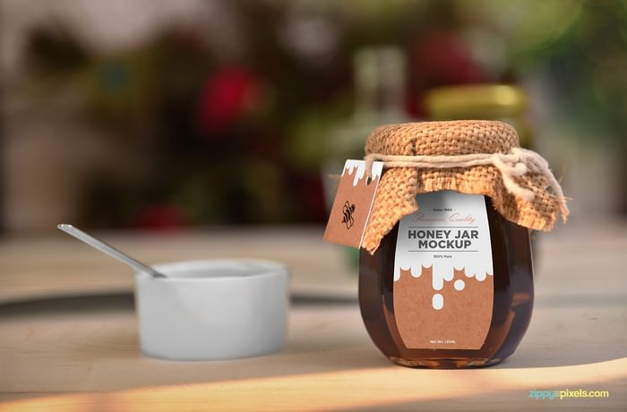 Awesome Honey Jar Mockup