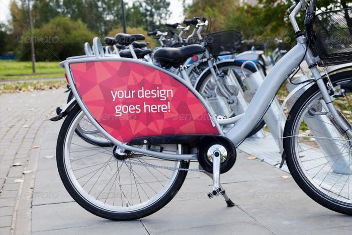 Bike Ad Advert Mockup