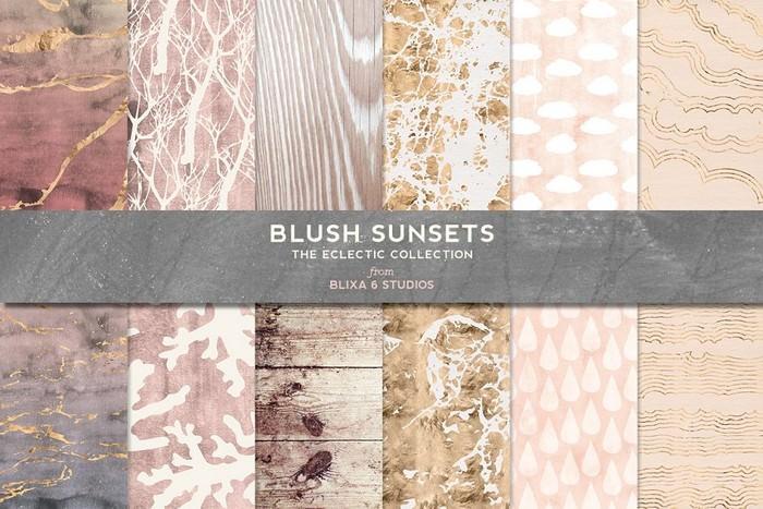 Blush Sunsets Rose Gold
