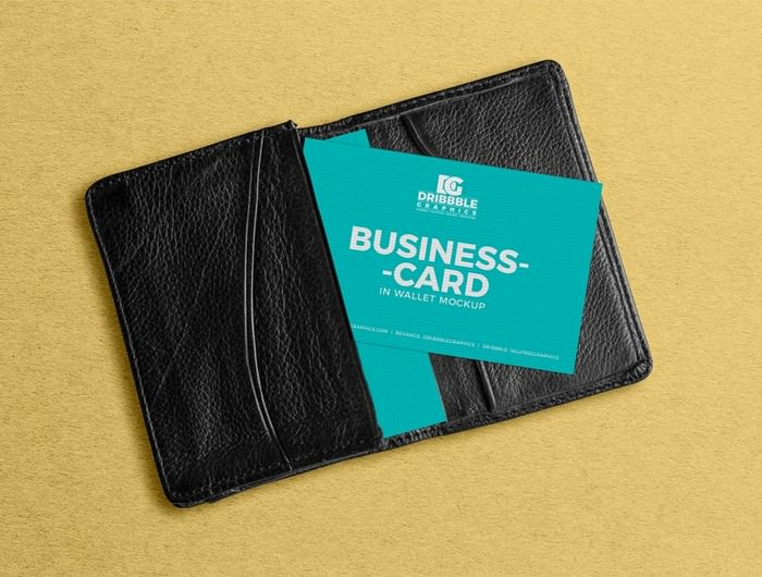 Business Card in Wallet PSD