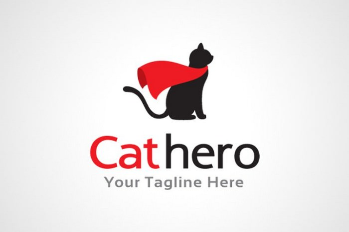Cat Hero Logo