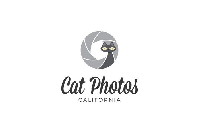Cat Logo Cat Photography Logo