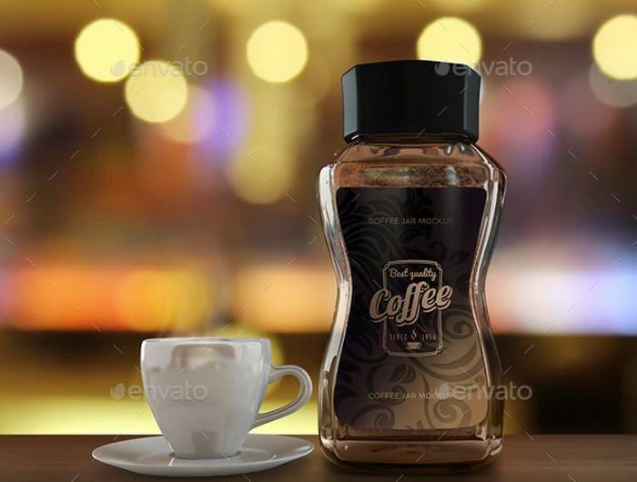 Coffee Jars Packaging Mock-Ups