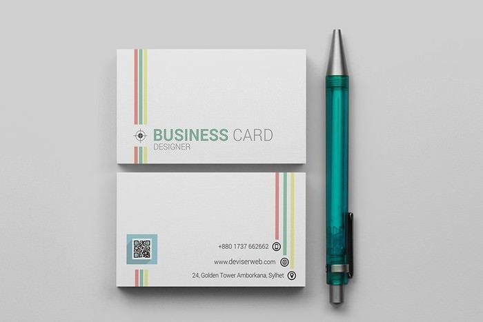 Colorful Line Business Card
