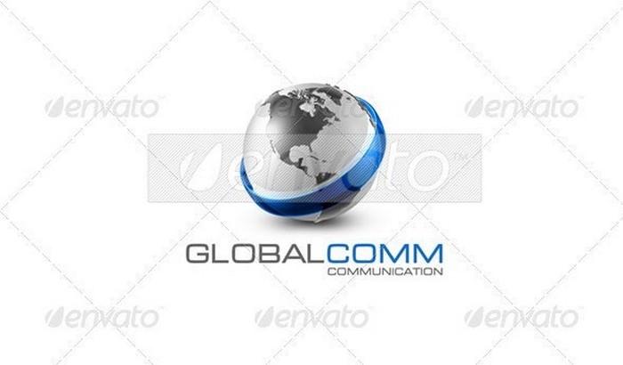 Communications 3D Logo