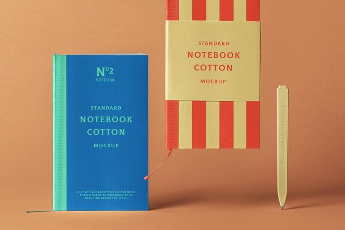 Cotton Psd Notebook Mockup