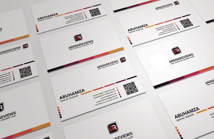 Creative White Business Card Mockup
