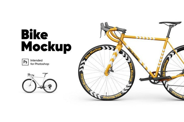 Customizable Bike Mockup