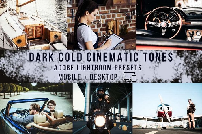 Dark Cold Cinematic Effect With contrasty look