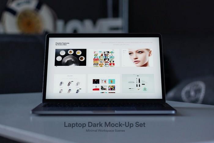 Dark Laptop Mockups