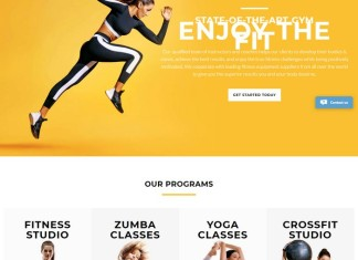 Fitness and Zoomba studio - Dance Studio Multipage Clean