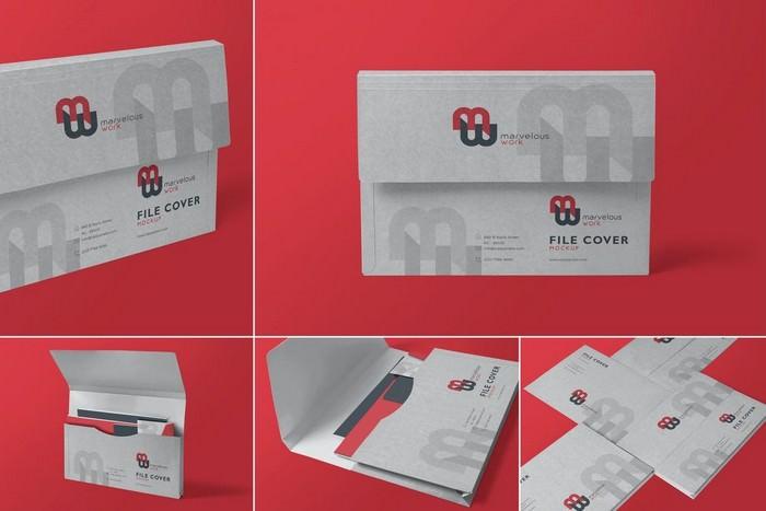 Flap Folder Mockups