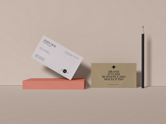 Brand Stylish Business Card Mockup