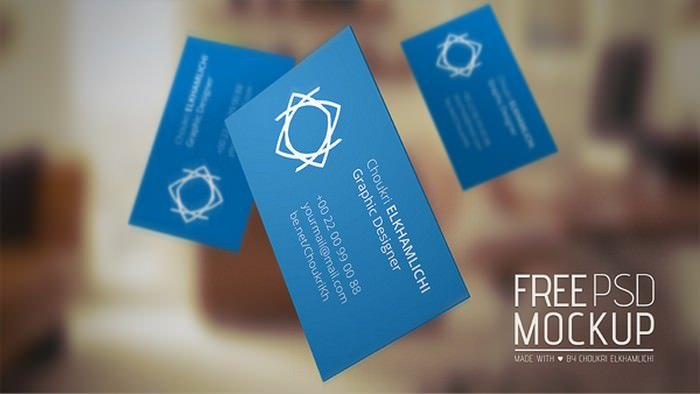 Free PSD Mockup Business card