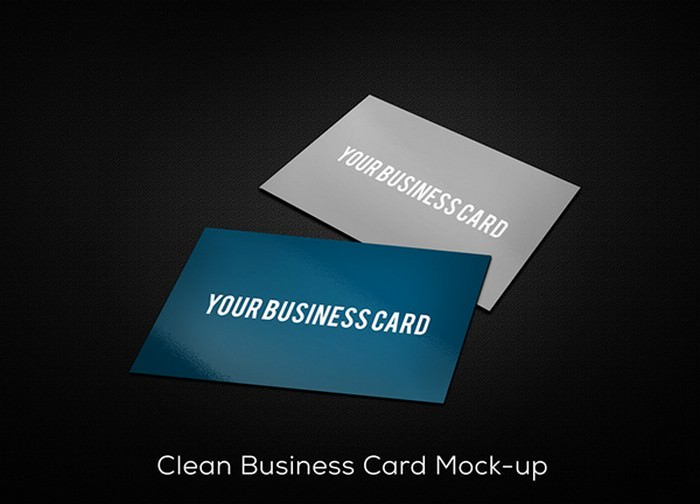Clean Business Card Mockup (PSD)