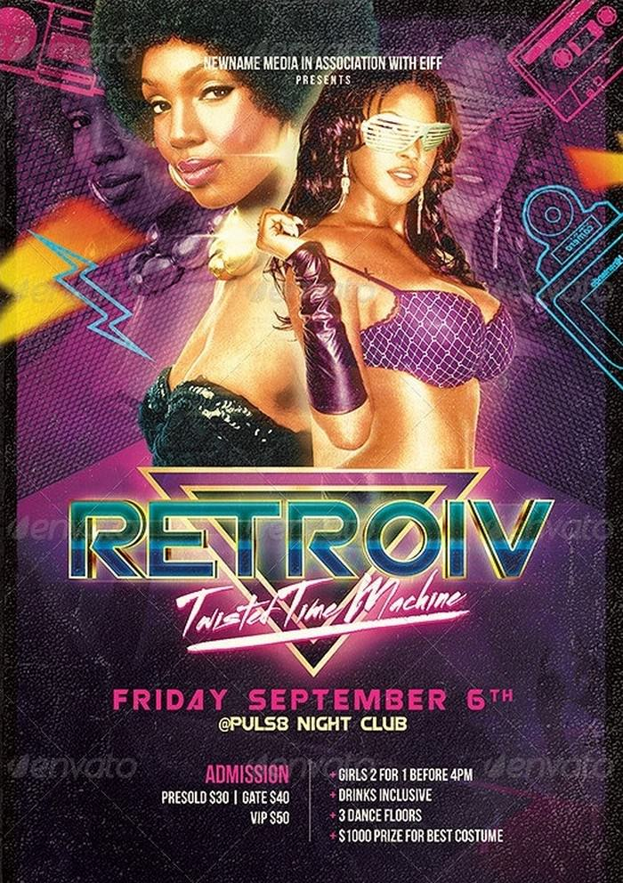 Futuristic Retro Party Flyer