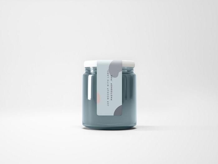Glass PSD Jar Mockup
