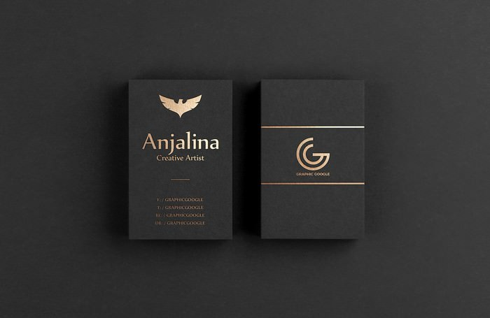 Gold Foil Business Card Mockup