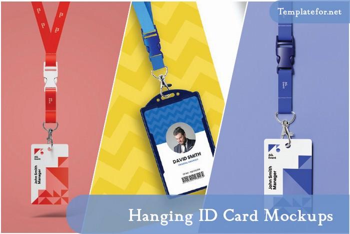 Hanging ID Card Mockups