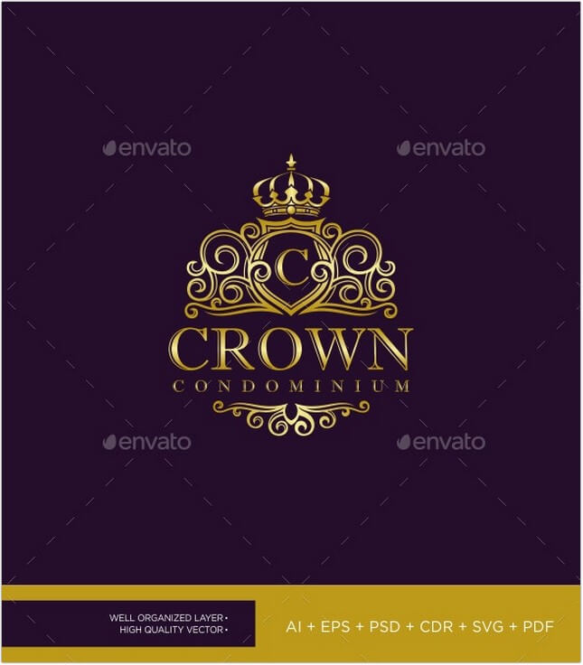 Elegant Crown Logo