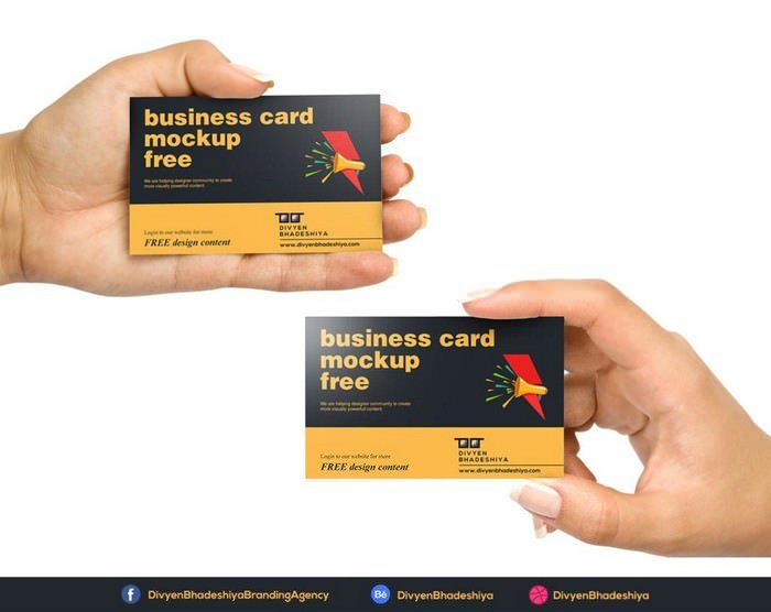 Horizontal 01 Business Card Mockup
