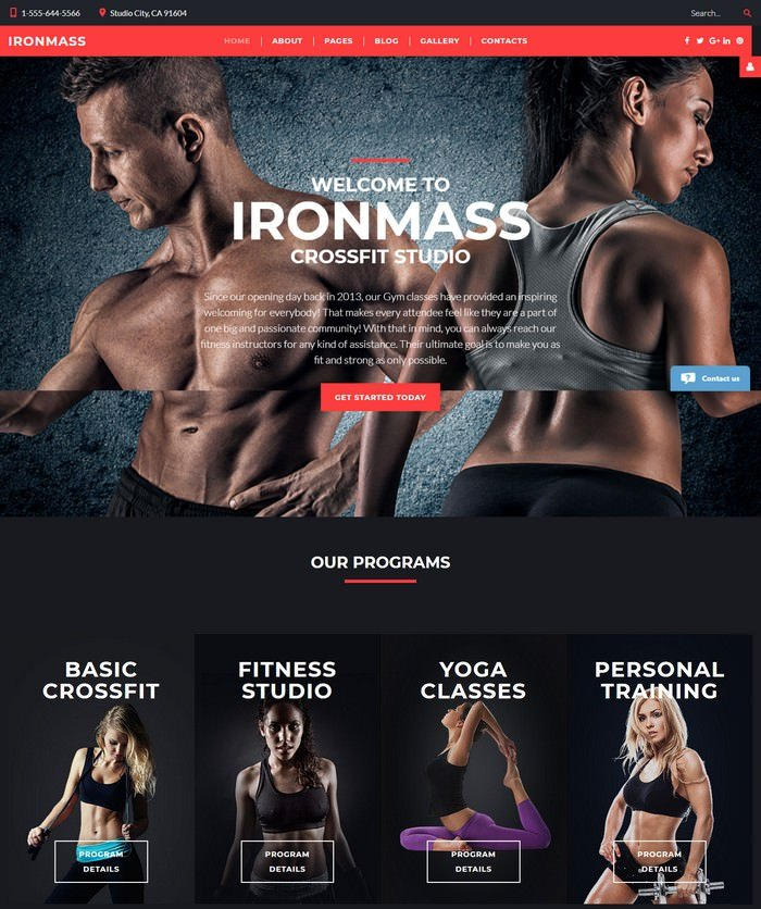 IronMass - Fitness Joomla Template