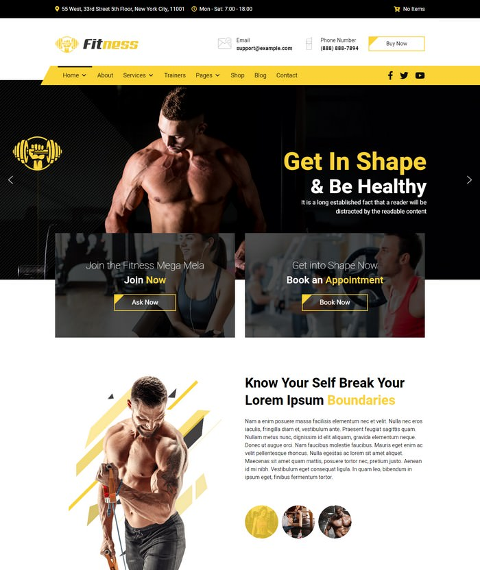JD Fitness - Gym Joomla 3.9 Template