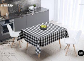Kitchen Scene PVC Tablecloth Mockup