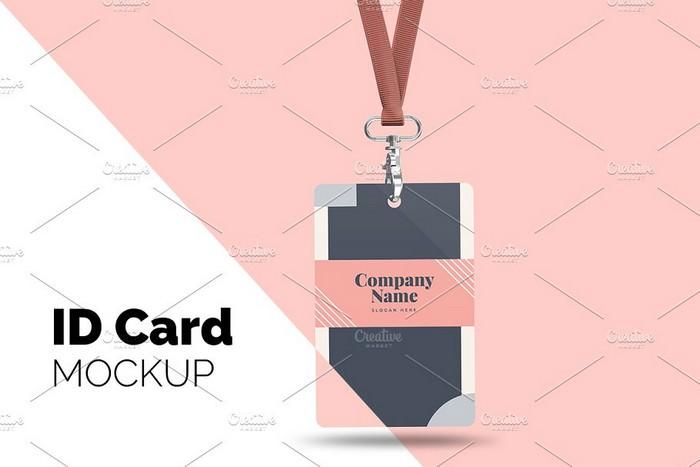 Lanyard ID Card Badge - Mockup