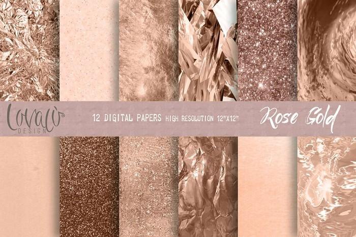 Luxury Rose Gold Digital Paper