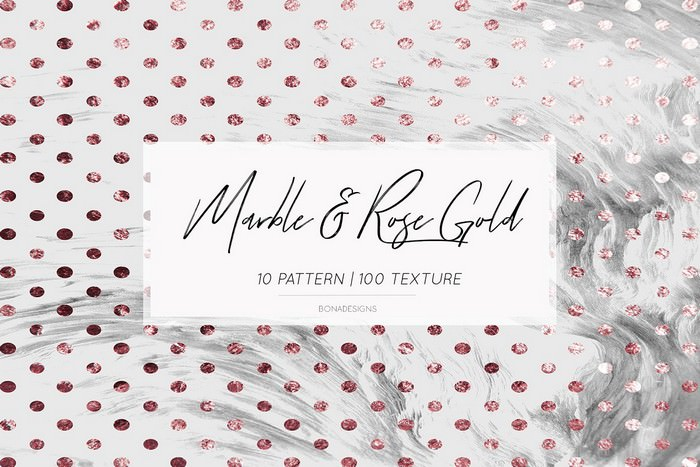 Marble Rose Gold Background
