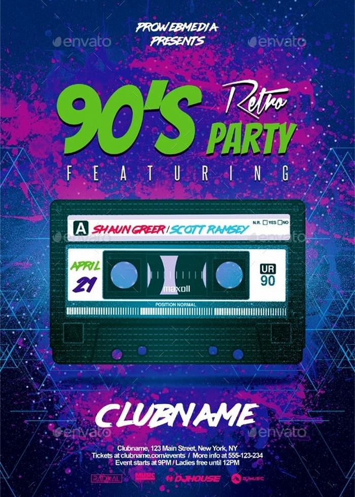 Modern Retro Party Flyer