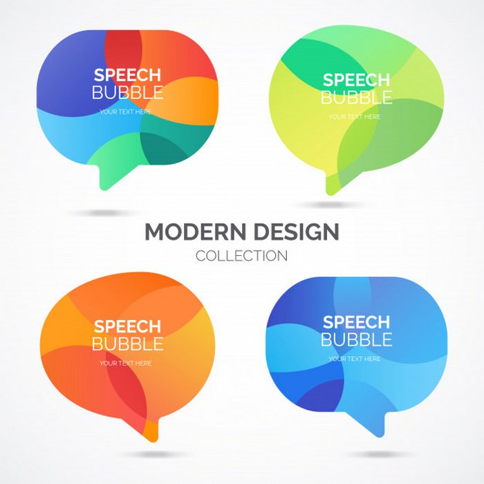 Modern Speech Bubble