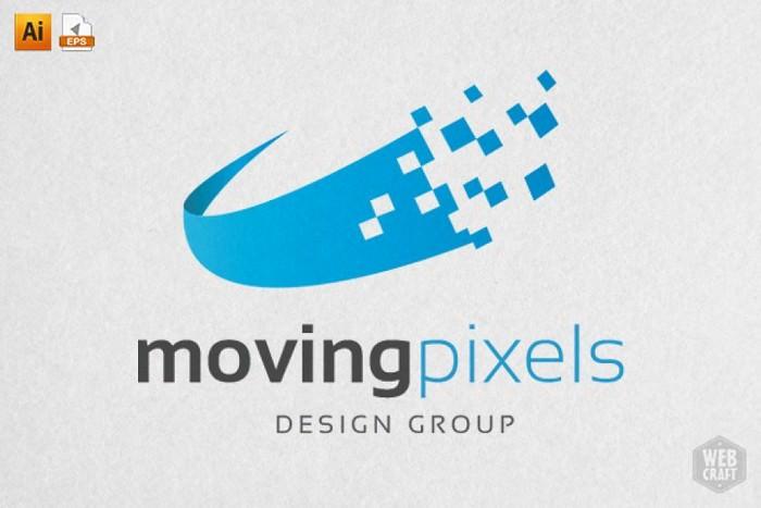 Moving Pixels Design Logo