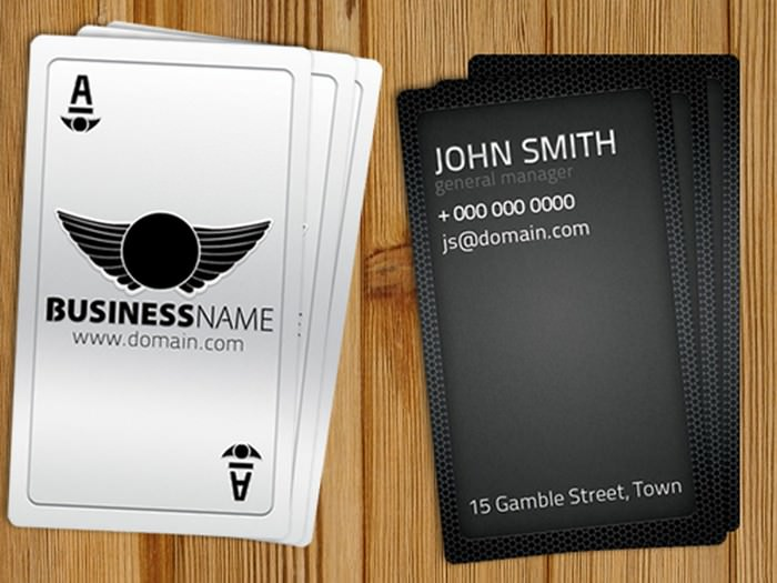 Playing Card Business Card Free