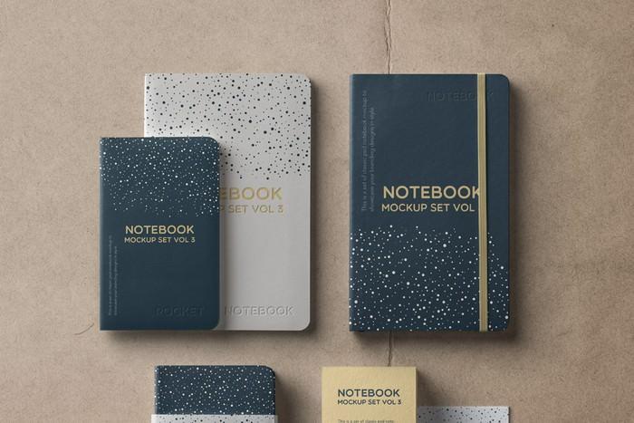 Psd Notebook Mockup Set Vol 3