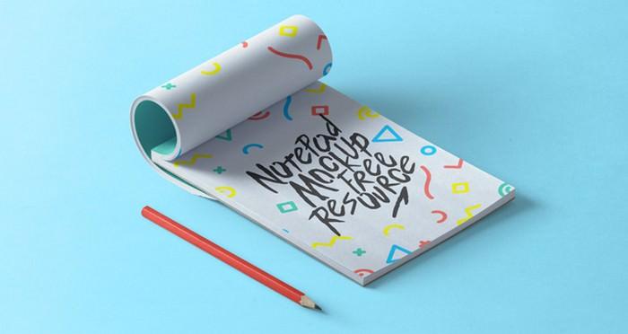Psd Notepad Mockup Vol2