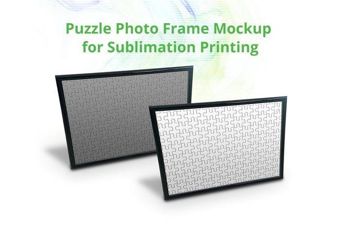 Puzzle Photo Frame Mock-up