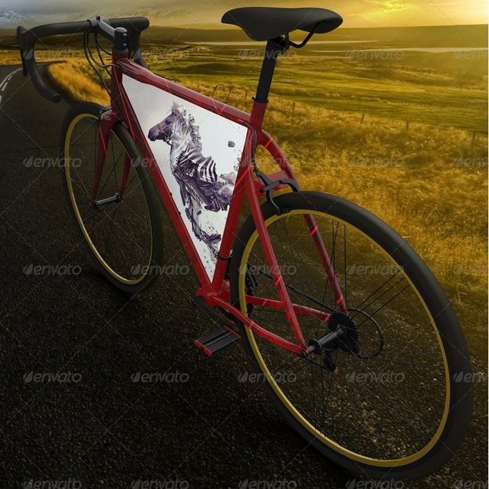 Realistic Bike Mock Up