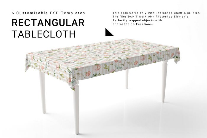 3D Rectangular Table-cloth PSD Template