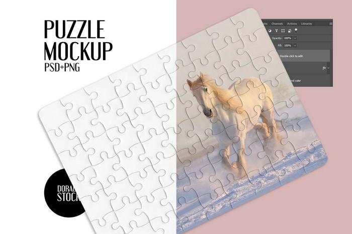 Rectangular puzzle mockup