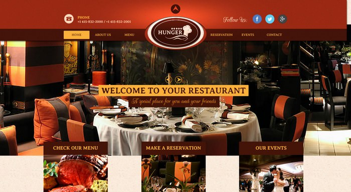 Cafe / Bar Adobe Muse Templates