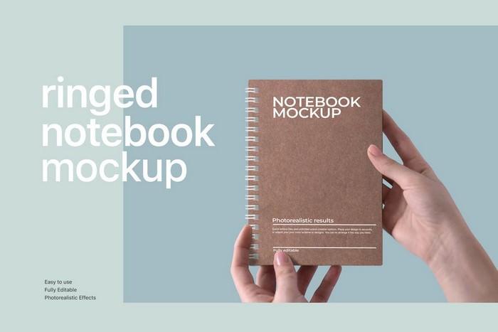 Ringed Notebook Mockup
