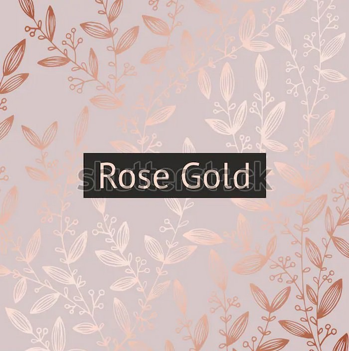 Rose Gold Floral Luxury