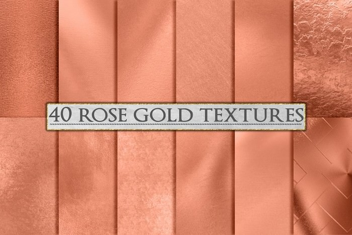 Rose Gold Foil Background
